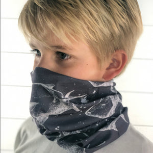 Shark Print Face Mask, Neck Gaiter