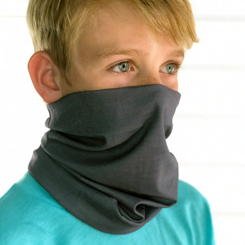 Dark Grey Face Mask, Neck Gaiter