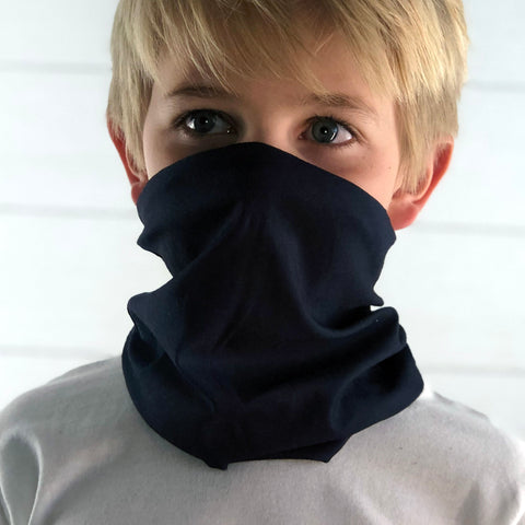 Midnight Blue Face Mask, Neck Gaiter