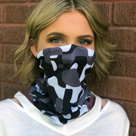 Snow Camo (Large Print) Face Mask, Neck Gaiter