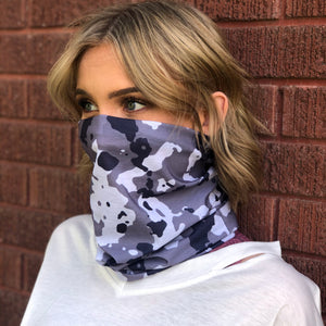Snow Camo (Small Pattern) Face Mask, Neck Gaiter