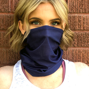 Navy Blue Face Mask, Neck Gaiter