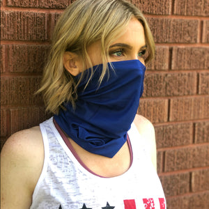 Royal Blue Face Mask, Neck Gaiter