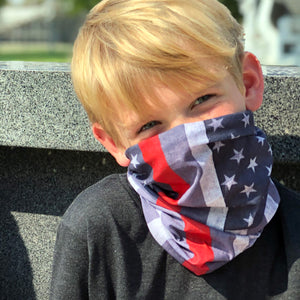 Thin Red Line US Flag Face Mask, Neck Gaiter