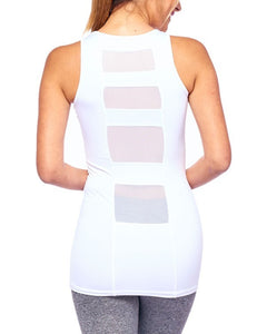 LA Society Workout Tank Top w/Mesh Back Panel