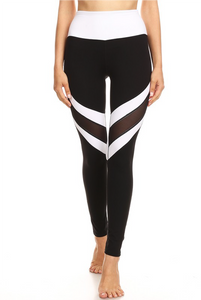 LA Society Black/White Mesh Legging