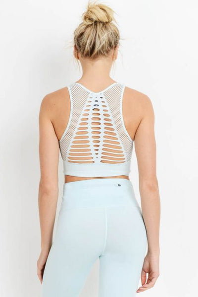 Laser Cut Seamless Sports Bra