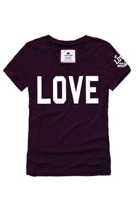 LOVE Print V-Neck T-Shirt ** PLUS SIZES **