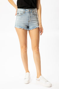 KanCan Super High Rise Frayed Stretch Short