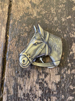 Brass Horse Head Belt Buckle
