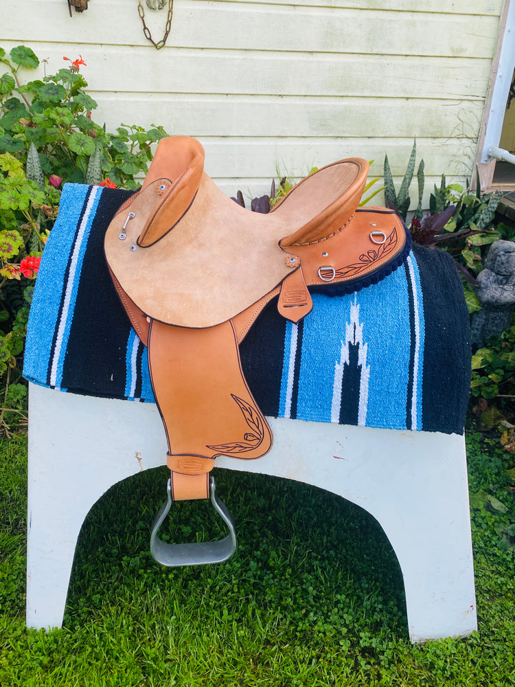 Hand Made Haswell Buckaroo Youth Fender Saddle