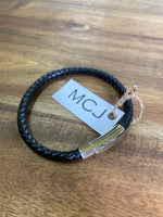 Mountain Creek Men's Leather Braclet