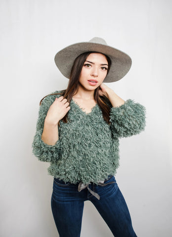 SAGE SHAG SWEATER