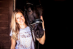 Zoe Kiff and her horse 'Trevor'