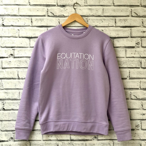 Equitation Nation lilac sweatshirt