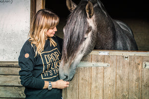 'DROP IT LIKE IT'S TROT' Warmblood Sweatshirt BLACK SAMPLE - Honest Riders