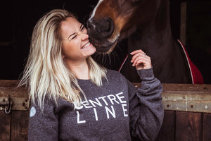 'CENTRE LINE' Warmblood Sweatshirt (Dark Grey) - Honest Riders