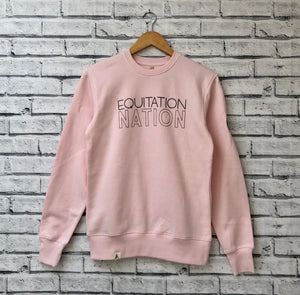 'EQUITATION NATION' Winter Pink Friesian Sweatshirt