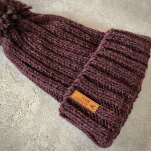 Honest Woolly Hat | Aubergine