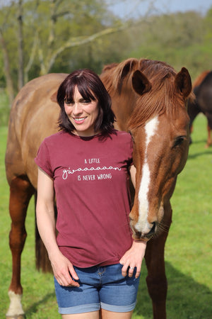 'A little G'WAAAAAAN' is never wrong' Trakehner T-Shirt - Honest Riders