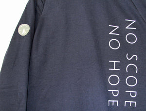 'NO SCOPE NO HOPE' Warmblood Sweatshirt | Navy - Honest Riders