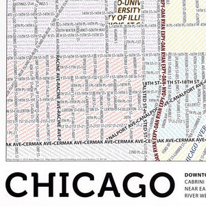 Chicago Typographic Poster