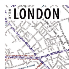 Load image into Gallery viewer, London Typographic Poster