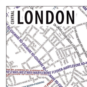 London Typographic Poster