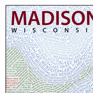 Madison Typographic Framed Poster