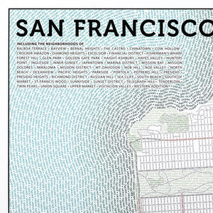 San Francisco Typographic Framed Poster