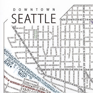 Seattle Typographic Poster
