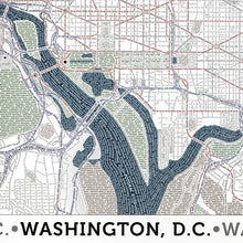 Load image into Gallery viewer, Washington DC Typographic Poster