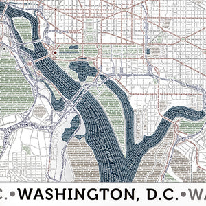 Washington DC Typographic Poster