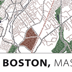 Boston Typographic Poster