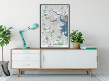 Load image into Gallery viewer, Boston Typographic Framed Poster