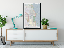 Load image into Gallery viewer, Chicago Typographic Framed Poster