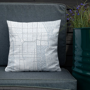 Chicago Typographic Premium Pillow