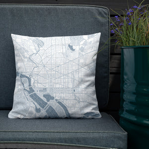 Washington DC Typographic Premium Pillow