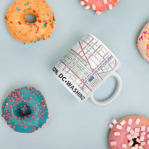 Washington DC Typographic Mug