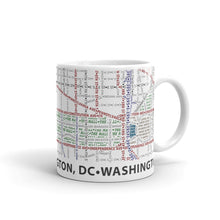 Load image into Gallery viewer, Washington DC Typographic Mug