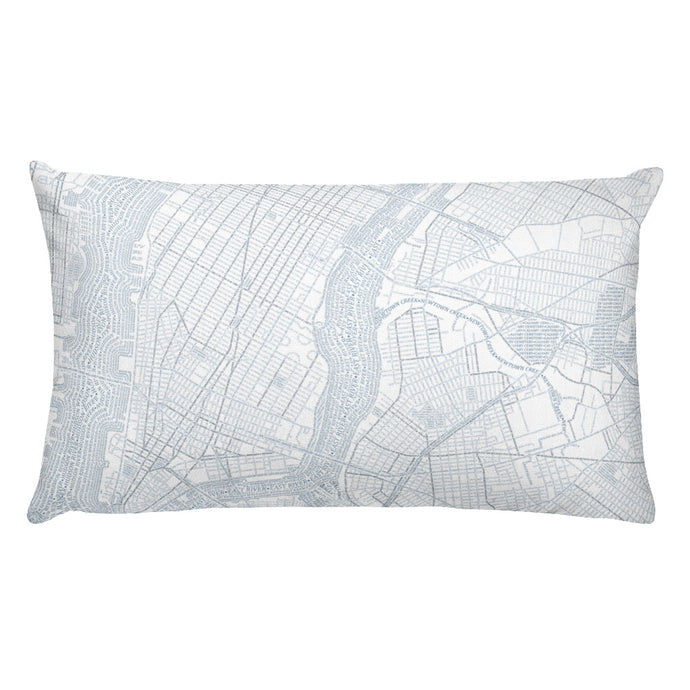 New York Typographic Premium Pillow