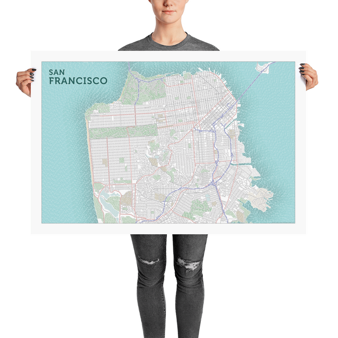 San Francisco Typographic Poster
