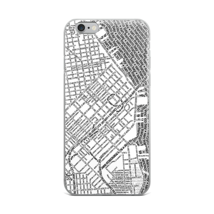 San Francisco Typographic iPhone Case