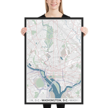 Load image into Gallery viewer, Washington DC Framed Poster