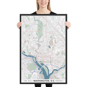 Washington DC Framed Poster