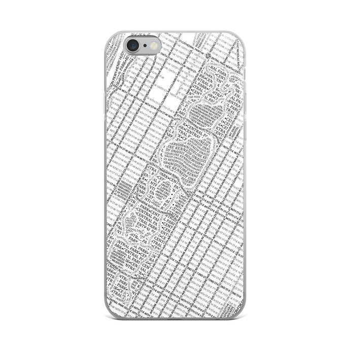 New York Typographic iPhone Case