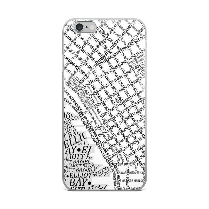 Seattle Typographic iPhone Case