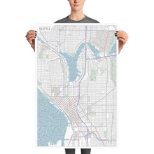 Load image into Gallery viewer, Seattle Typographic Poster