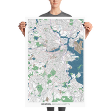 Load image into Gallery viewer, Boston Typographic Poster