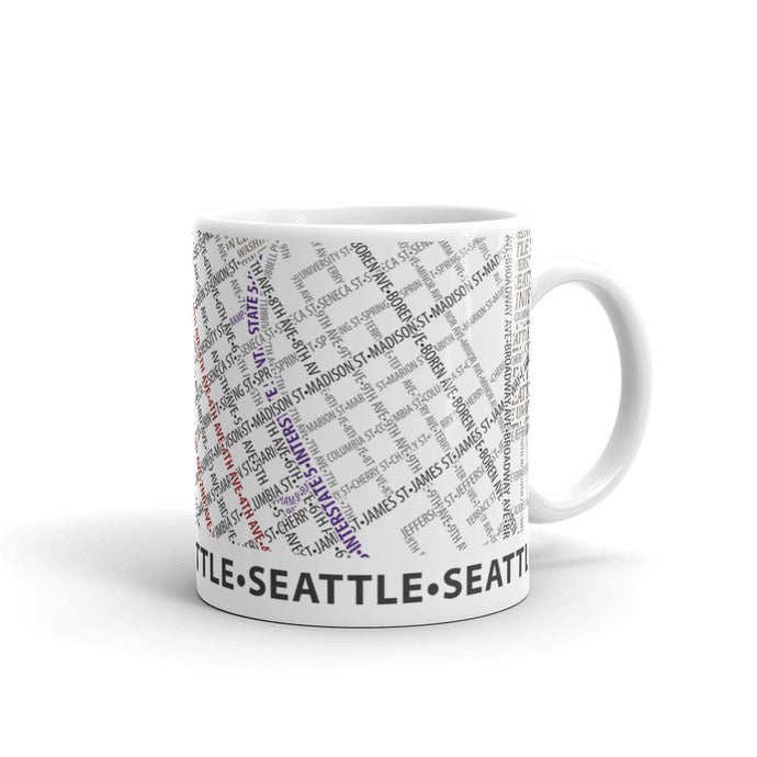 Seattle Typographic Mug